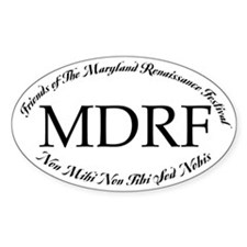 Friends of MDRF Oval Car Decal
