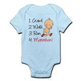 Crawl, Walk, Run Marathon Infant Bodysuit