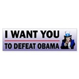 Uncle Sam Defeat Obama Bumper Sticker