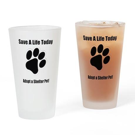 Adopt a shelter pet Pint Glass