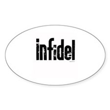 Infidel ~ Oval Decal