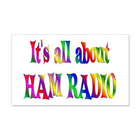 About Ham Radio 22x14 Wall Peel