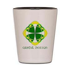 LUCKY 4 LEAF CLOVER - GR8FUL DESIGN Shot Glass