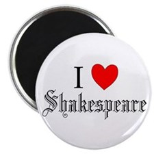 I Love Shakespeare Magnet