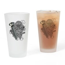Butterfly Cancer Ribbon Pint Glass