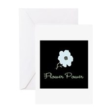 Blue Flower Power Greeting Card