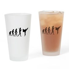 The Evolution Of Karate Pint Glass