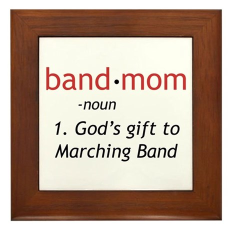 Definition of a Band Mom Framed Tile