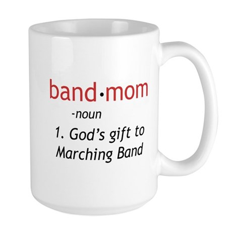 Definition of a Band Mom Large Mug