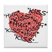 Hug & Kiss Tile Coaster