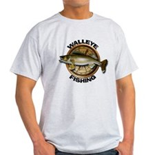 Light Walleye Fishing T-Shirt