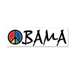 Obama Peace Car Magnet 10 x 3