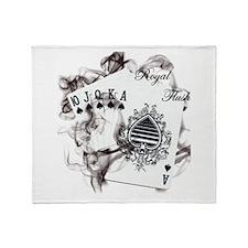 Smokin' Royal Flush Throw Blanket