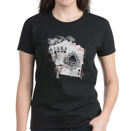 Smokin' Royal Flush Women's Dark T-Shirt