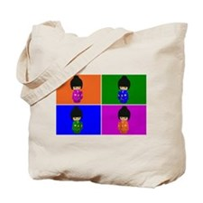 pop art Kawaii Kokeshi Dolls Tote Bag