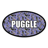 Floral Puggle Decal