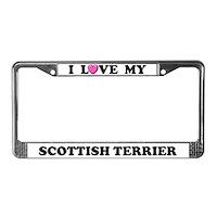 Scottish Terrier License Plate Frames
