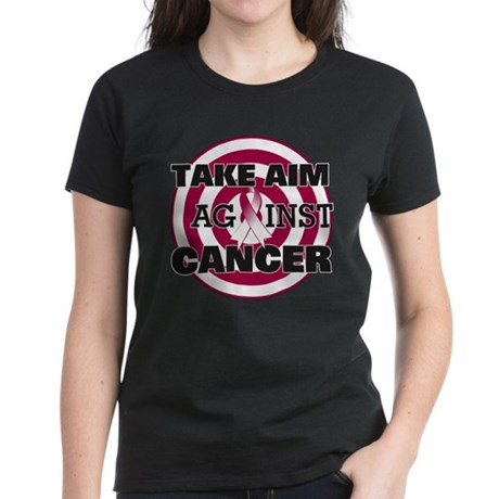 Take Aim - Throat Cancer Women's Dark T-Shirt