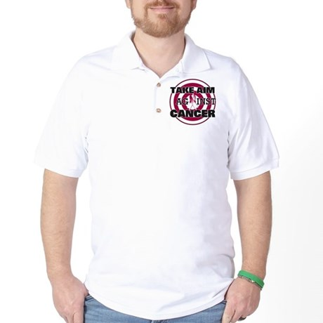 Take Aim - Throat Cancer Golf Shirt