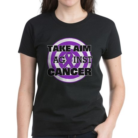 Take Aim - Pancreatic Cancer Women's Dark T-Shirt