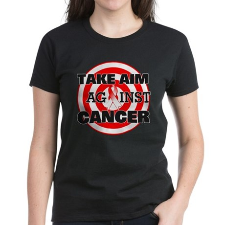 Take Aim - Oral Cancer Women's Dark T-Shirt