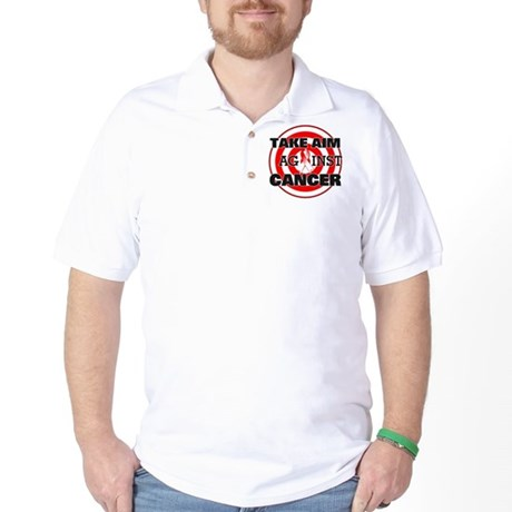 Take Aim - Oral Cancer Golf Shirt