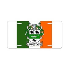 Sweeney Arms Flag Aluminum License Plate