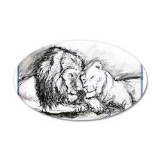 Lion, couple, stunning, 22x14 Oval Wall Peel