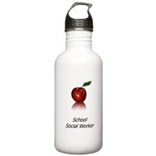 School Social Worker Water Bottle
