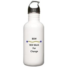 BSW Will Work for Change Water Bottle
