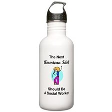 Social Worker Idol Water Bottle