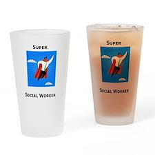 Super Social Worker Pint Glass