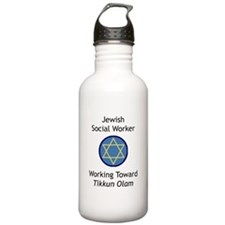 Jewish Social Worker Water Bottle