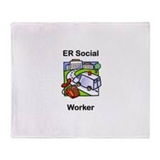 ER Social Worker Throw Blanket