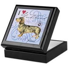 Wirehaired Dachshund Keepsake Box