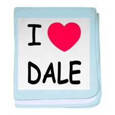 I heart dale baby blanket