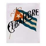 Cuba Libre Cuban Flag Throw Blanket