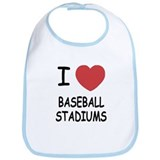I heart baseball stadiums Bib