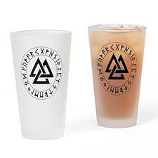 Triple Triangle Rune Shield Pint Glass
