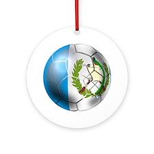Guatemala Football Ornament (Round)