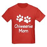 Cute Chiweenie Mom Kids Dark T-Shirt