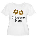 Cute Chiweenie Mom Women's Plus Size Scoop Neck T-
