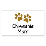 Cute Chiweenie Mom Sticker (Rectangle)