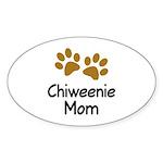 Cute Chiweenie Mom Sticker (Oval)