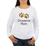 Cute Chiweenie Mom Women's Long Sleeve T-Shirt