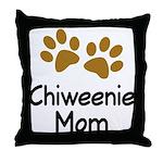 Cute Chiweenie Mom Throw Pillow