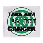 Take Aim - Liver Cancer Throw Blanket