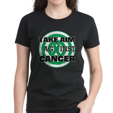 Take Aim - Liver Cancer Women's Dark T-Shirt