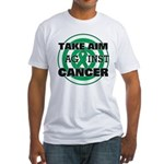 Take Aim - Liver Cancer Fitted T-Shirt