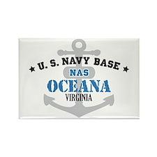 US Navy Oceana Base Rectangle Magnet